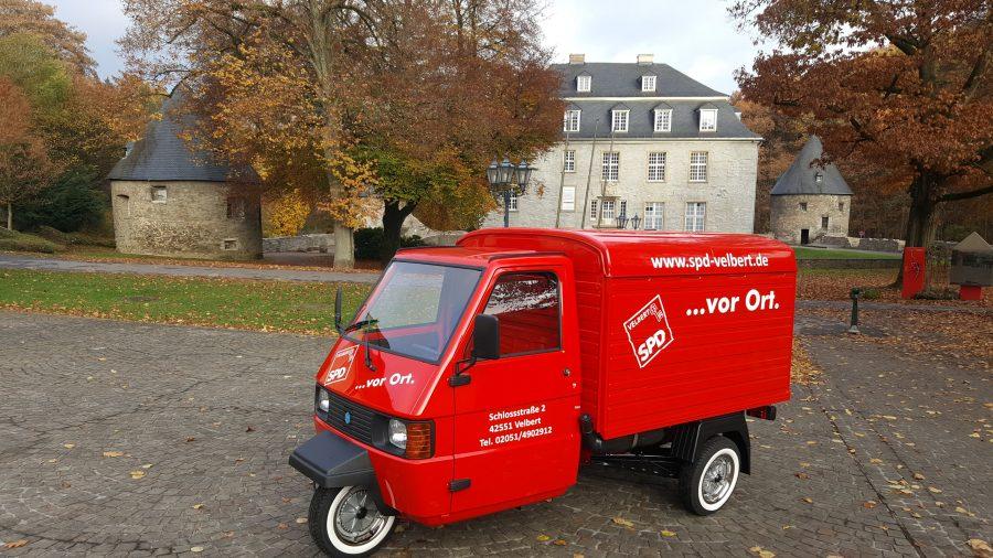 ... vor Ort! Unser rotes SPD-Mobil.